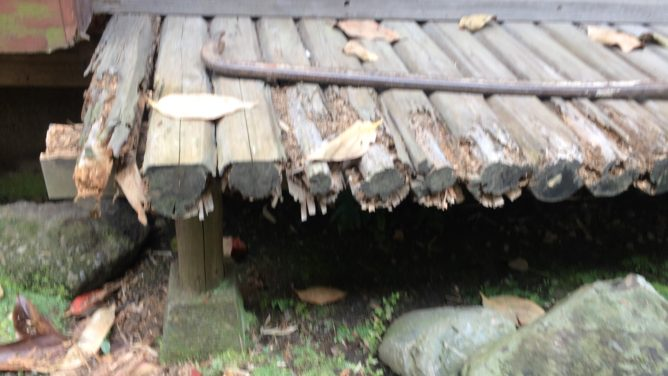 南荻窪にある濡れ縁 施工前状況